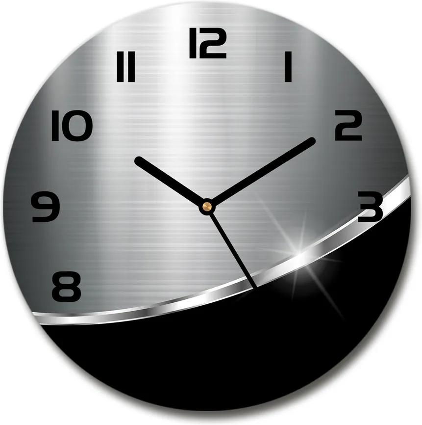 Ceas din sticlă rotund Abstracție de metal