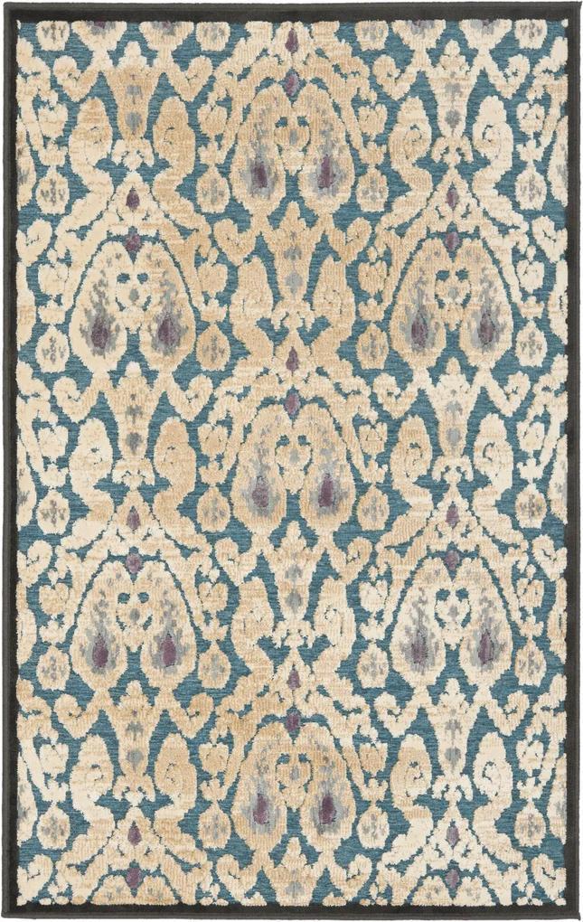 Covor Oriental & Clasic Aziz, Negru/Gri, 79x122