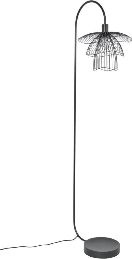Lampa de podea neagra din metal Papillon Noir XS