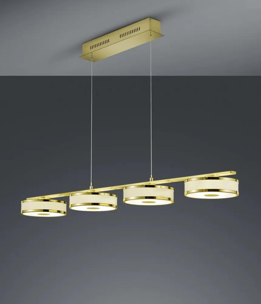 Trio 378010408 Lampi de sufragerie AGENTO  metal incl. 4 x SMD, 7,5W, 3000K, 750Lm 750lm IP20 A+