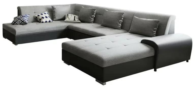 Canapea gri/negru model stanga LIBERTO U