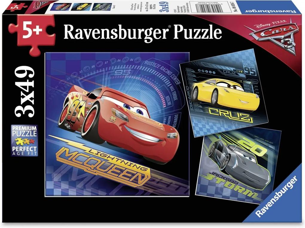 PUZZLE 5Ani+ CARS, 3x49 PIESE