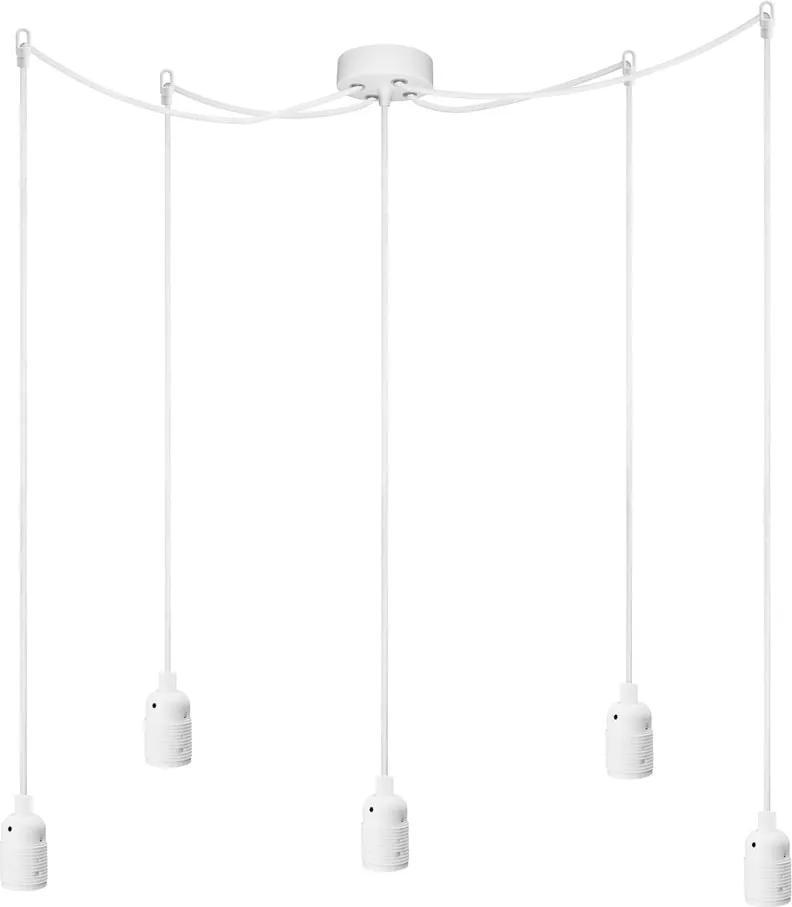 Lustră 5 cabluri Bulb Attack Uno Cassie, alb