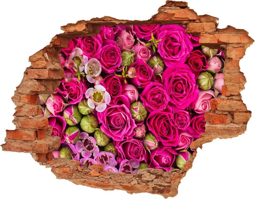 Samolepiaca diera nálepka betón Ruže