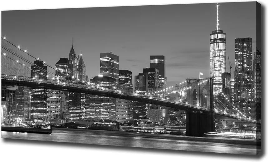 Print pe pânză Manhattan pe timp de noapte