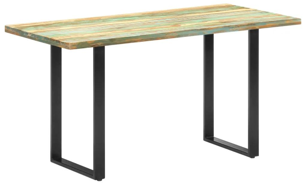 285834 vidaXL Masă de bucătărie, 140 x 70 x 76 cm, lemn masiv reciclat