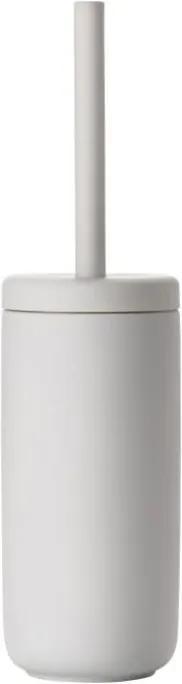 Perie din ceramică pentru toaletă Zone Soft Grey, gri deschis