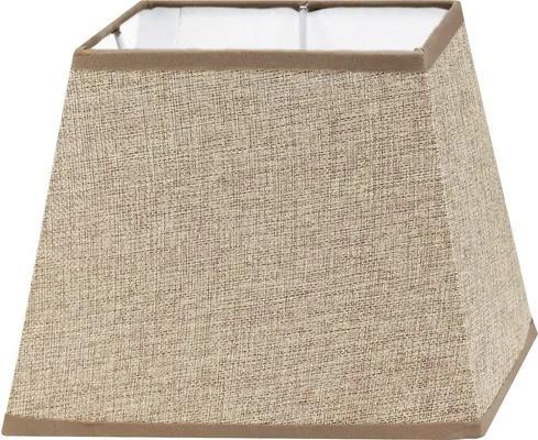 Abajur textil Vintage E14/E27 240x165 mm, 180 mm, maro deschis