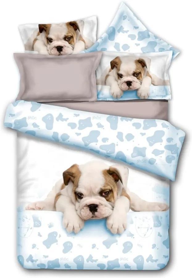 Lenjerie de pat pentru 1 persoană DecoKing Anilove Grumpy Puppy, 135 x 200 cmm