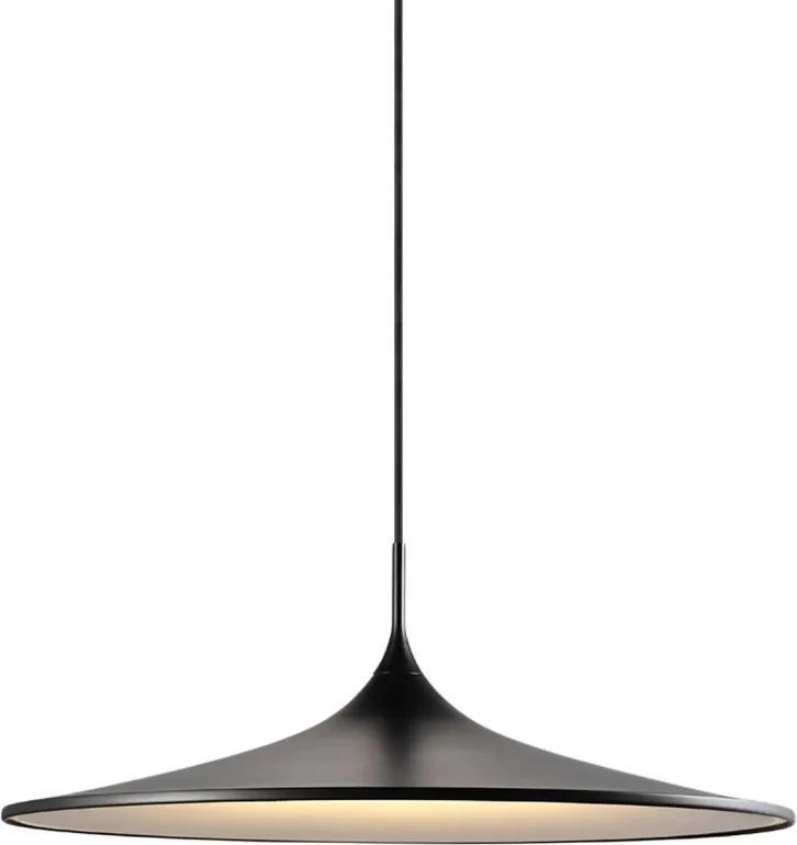 Lustra tip pendul LED Skip I otel vopsit, negru, 1 bec, diametru 57 cm, 230 V