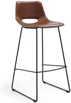 Scaun modern de bar ZIGGY maro