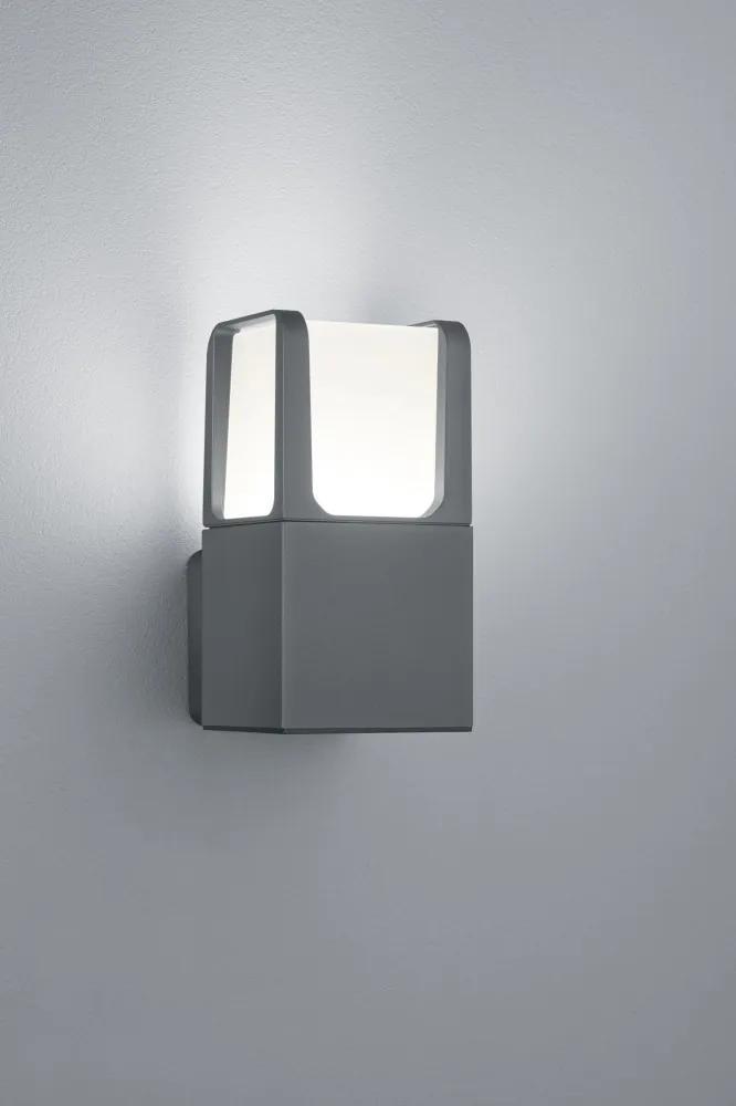 Trio 222160142 Aplice pentru iluminat exterior EBRO antracit aluminiu incl. 1 x SMD, 6W, 3000K, 650Lm 650lm 3000K IP54 A+