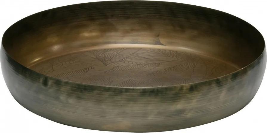Tava rotunda pentru servit din fier Notch, antique brass, 44 cm