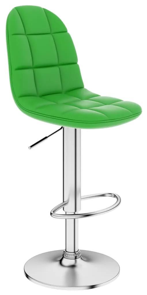 249781 vidaXL Scaun de bar, verde, piele ecologică