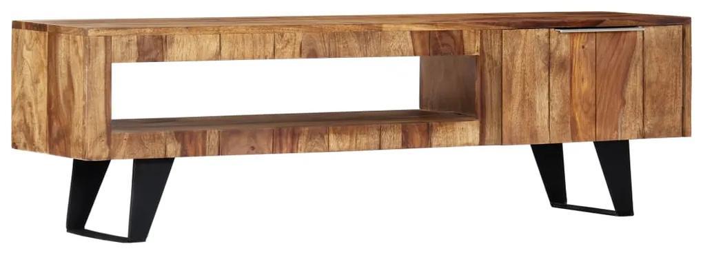 247980 vidaXL Comodă TV, 140 x 30 x 40 cm, lemn masiv de sheesham