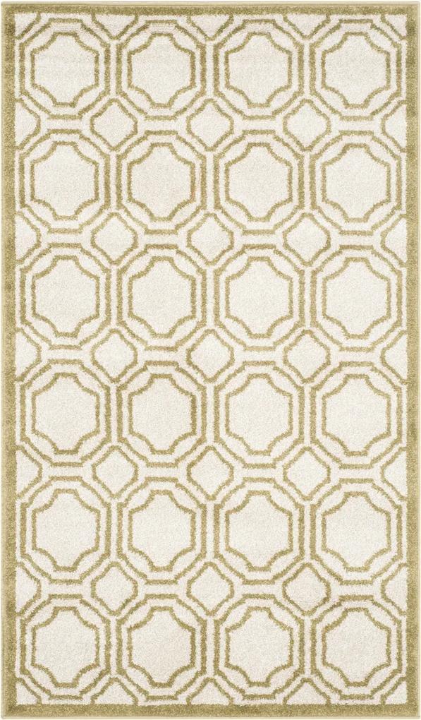 Covor Modern & Geometric Ferrat, Bej/Verde, 76x122