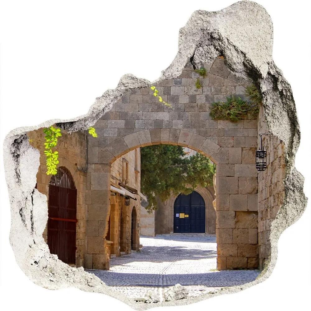 Fototapet 3D gaură în perete Străzi fermecătoare