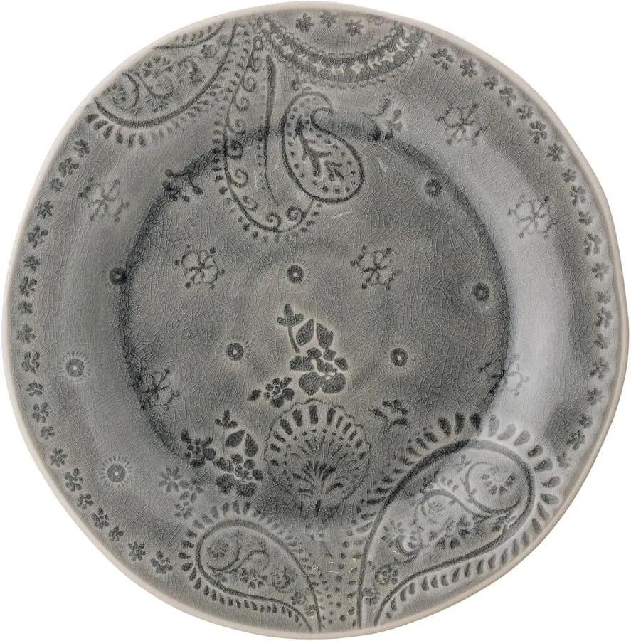 Farfurie din gresie ceramică Bloomingville Rani, ø 26,5 cm. gri