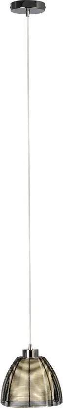 Lustra tip pendul Relax I sticla/fier, negru, diametru 19.5 cm