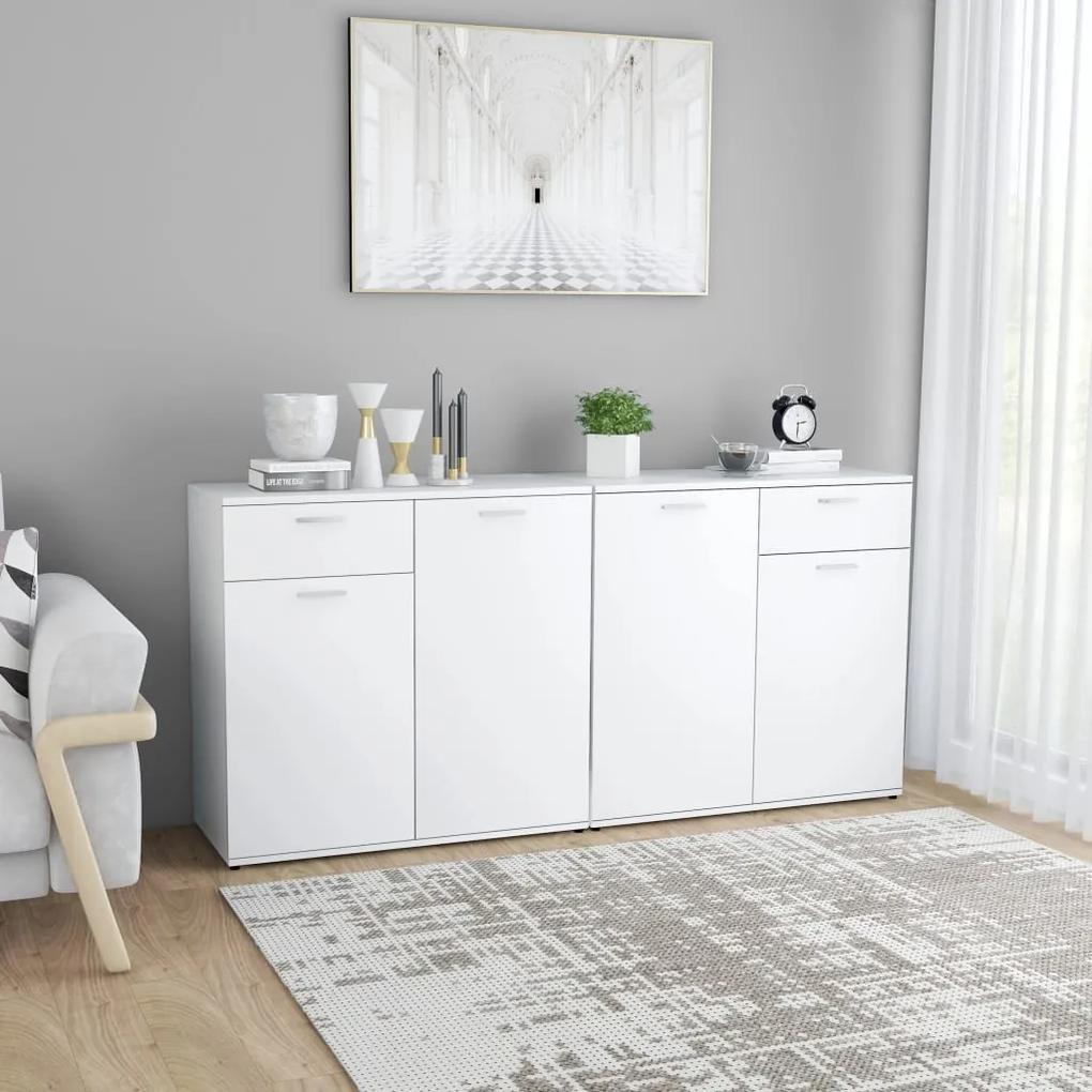 3054771 vidaXL Servantă, alb, 160 x 36 x 75 cm, PAL