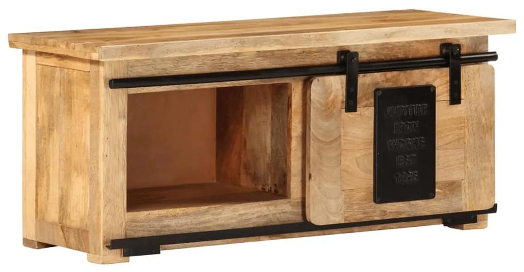 321570 vidaXL Comodă TV, 90 x 35 x 40 cm, lemn masiv de mango