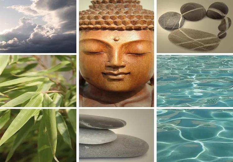 Zen Calming Scene Fototapet, (152.5 x 104 cm)