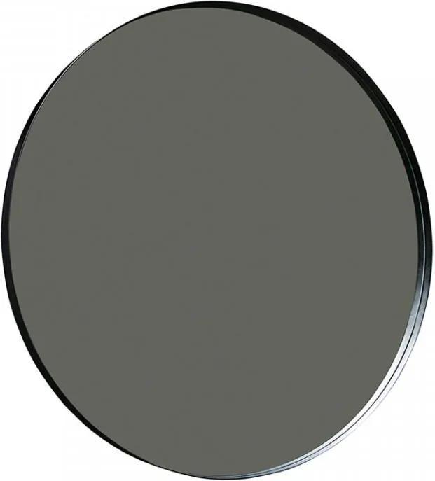 Oglinda rotunda neagra din metal 115 cm Doutzen
