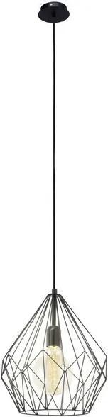 Pendul Eglo Trend Carlton 1x60W, h110cm, negru