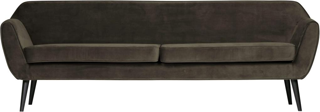 Canapea din catifea 230 cm Rocco XL Velvet Warm Green | WOOOD