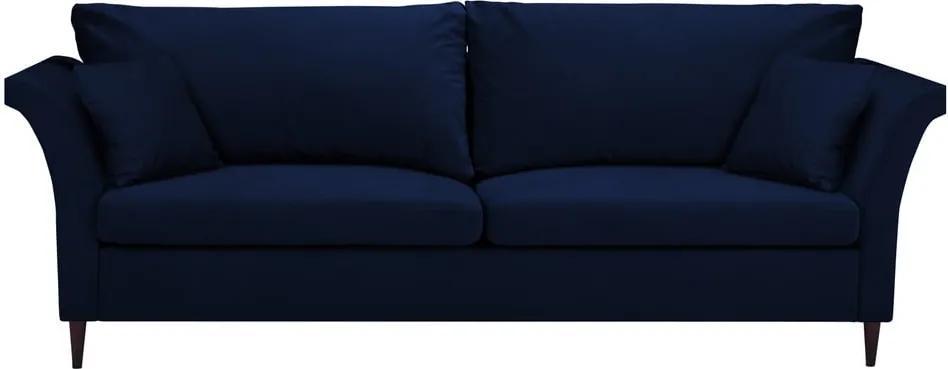 Canapea extensibilă cu spațiu pentru depozitare Mazzini Sofas Pivoine, albastru