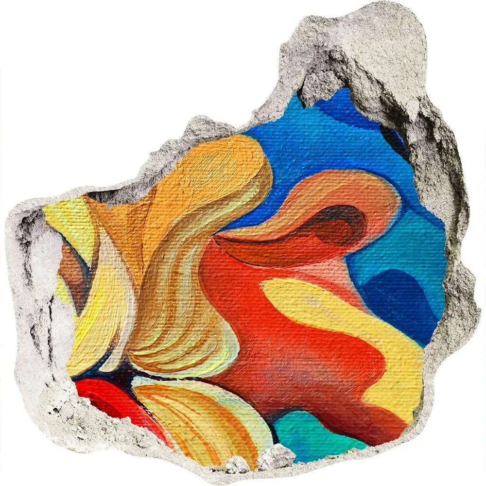 Autocolant autoadeziv gaură Floare abstract