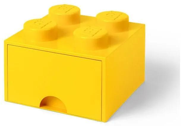 LEGO - Cutie depozitare 2x2 cu sertar, Galben