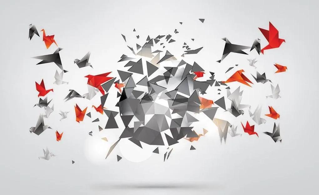 Fototapet: Origami birds (1) - 184x254 cm