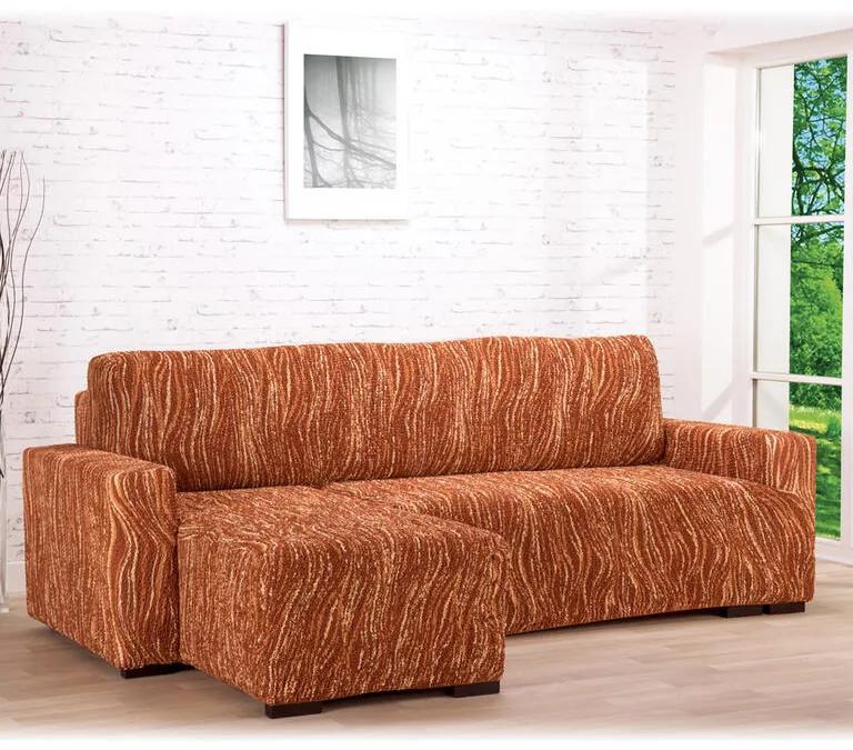 GA.I.CO Huse bielastice UNIVERSO NOU dungi cărămizii canapea cu otoman stânga (l. 170 - 200 cm)