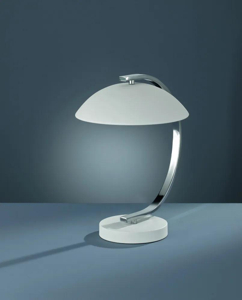 Trio RETRO R50881031 Lampa de masa de noapte alb mat metal excl. 1 x E14, max. 40W IP20