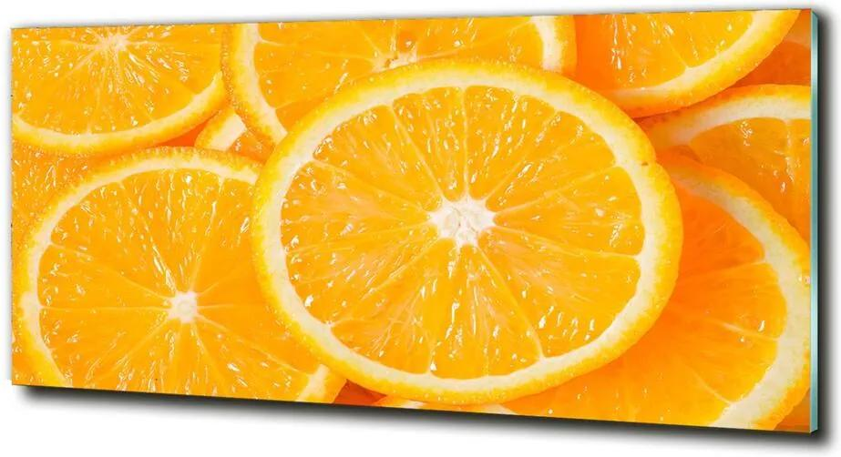 Fotografie imprimată pe sticlă Felii de portocale