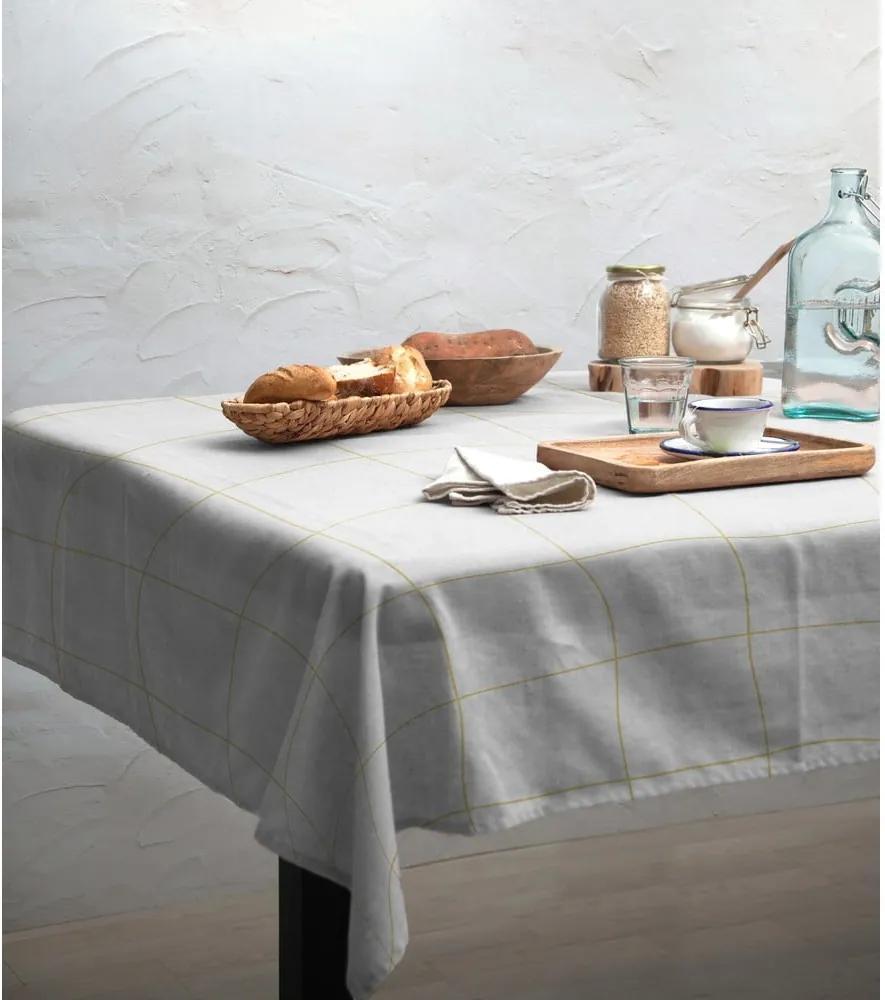 Față de masă Linen Couture Beige Lines, 140 x 200 cm