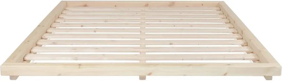 Pat din lemn de pin Karup Design Dock Natural, 160 x 200 cm, natural
