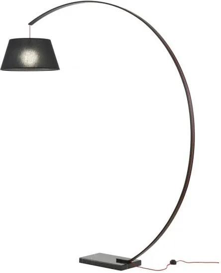Lampadar Redo SWAP negru, bază marmură