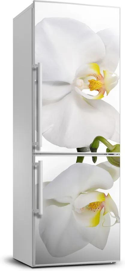 Autocolant pe frigider Alb orhidee