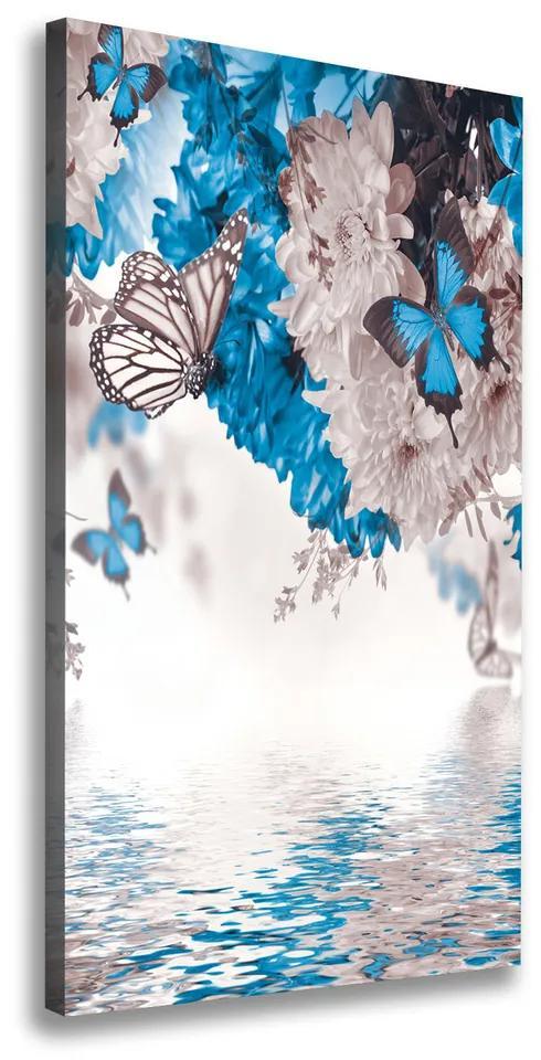 Tablouri tipărite pe pânză Flori și fluturi