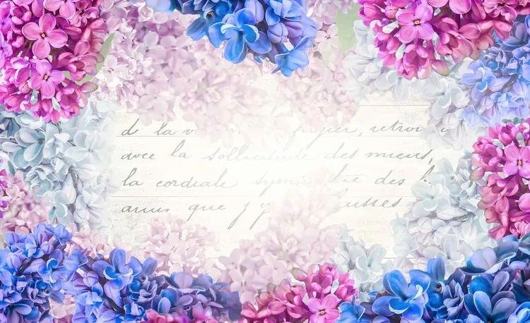 Flowers Vintage Fototapet, (368 x 254 cm)