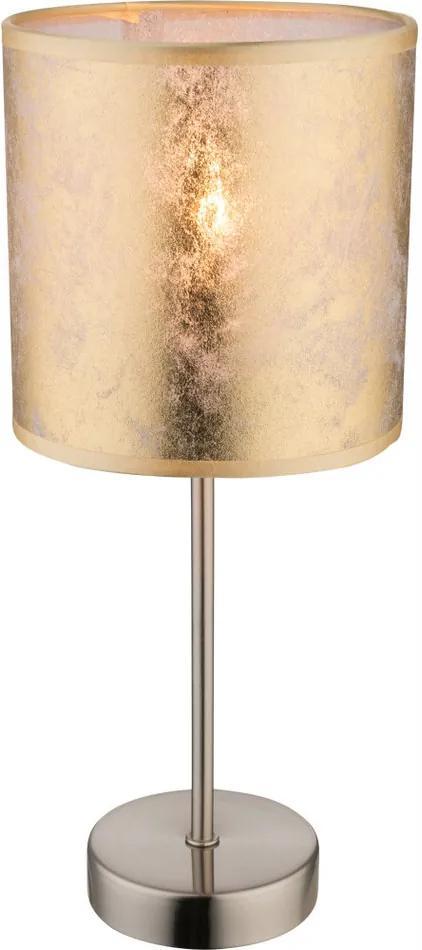 Globo AMY 15187T Lampa de masa de noapte nichel mat 1 x E14 max. 40w 35 x 15 x 15 cm