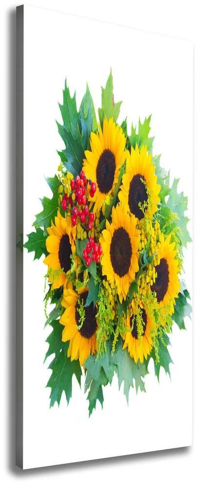 Tablou pe pânză canvas Buchet de floarea-soarelui