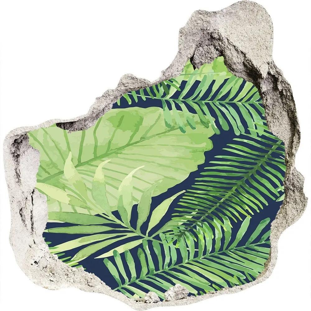 Autocolant autoadeziv gaură Frunze tropicale