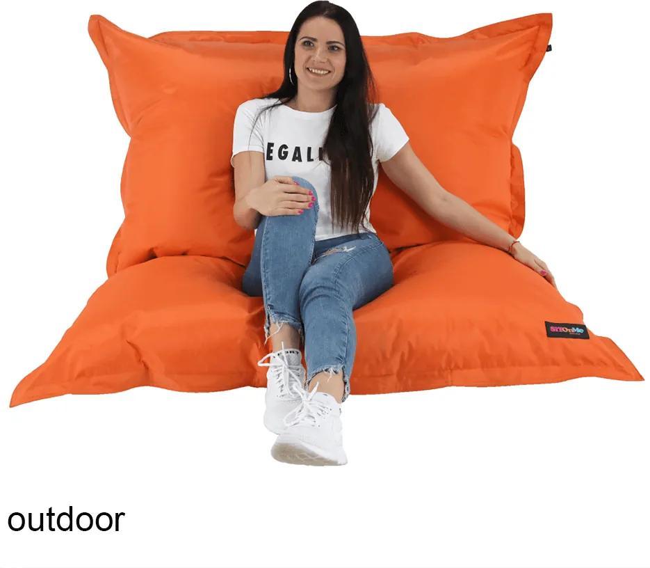 Fotoliu tip sac, material textil portocaliu, GETAF
