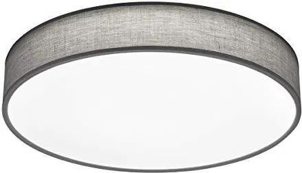 Plafoniera Lugano, tesatura, gri, 60 x 10 cm, 40w