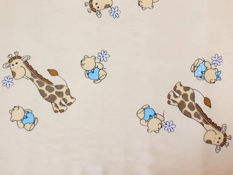 Aparatoare laterala Mini Giraffe crem 120x60
