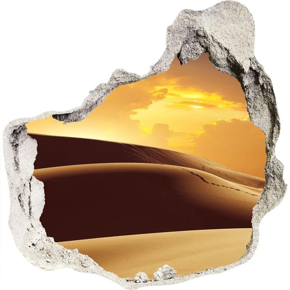 Autocolant un zid spart cu priveliște Cămilă Sahara