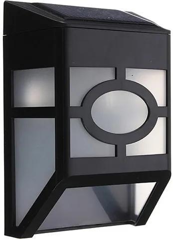 Lampa solara neagra pentru exterior
